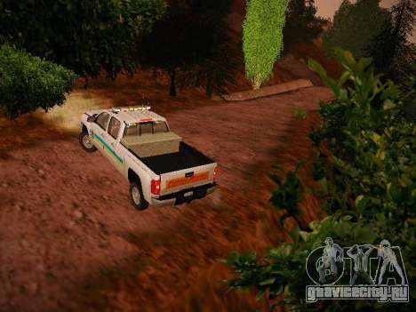 Chevrolet Silverado 2500HD Public Works Truck для GTA San Andreas вид справа