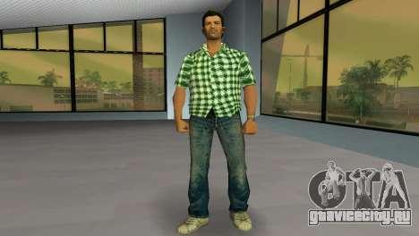 Kockas polo - zold T-Shirt для GTA Vice City второй скриншот