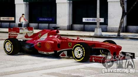 Ferrari F138 v2 для GTA 4 вид сзади слева