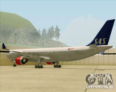 Airbus A330-300 Scandinavian Airlines System. для GTA San Andreas вид сзади слева