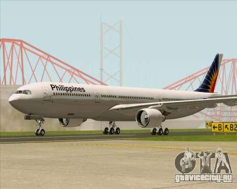 Airbus A330-300 Philippine Airlines для GTA San Andreas вид сзади слева