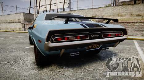 Dodge Challenger 1971 v2.2 PJ2 для GTA 4 вид сзади слева