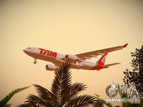 Airbus A330-200 TAM Airlines для GTA San Andreas вид снизу