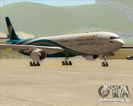Airbus A330-300 Oman Air для GTA San Andreas вид слева