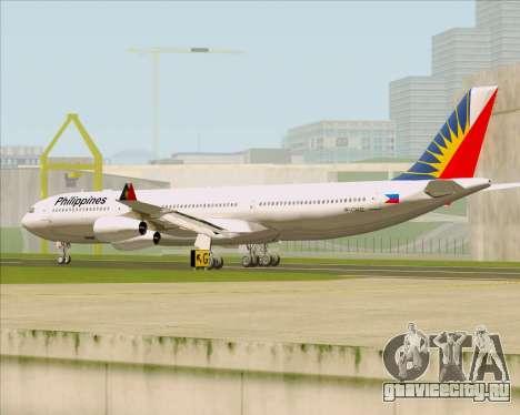 Airbus A340-313 Philippine Airlines для GTA San Andreas вид справа