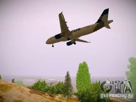 Airbus A320-211 Aigle Azur для GTA San Andreas вид изнутри