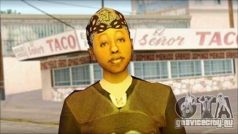Afro - Seville Playaz Settlement Skin v4 для GTA San Andreas третий скриншот