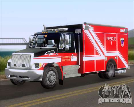 Pierce Commercial TFD Rescue 1 для GTA San Andreas