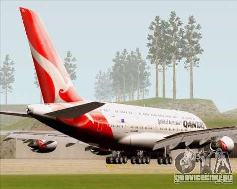 Airbus A380-841 Qantas для GTA San Andreas вид сзади слева