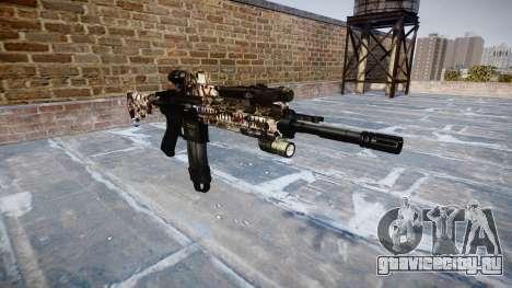 Автоматический карабин Colt M4A1 zombies для GTA 4