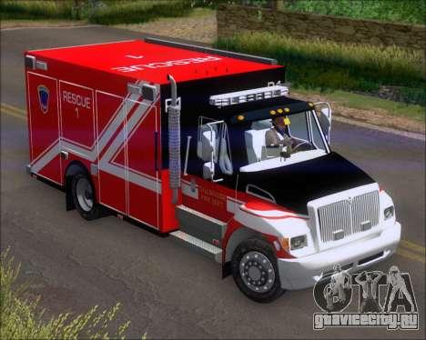 Pierce Commercial TFD Rescue 1 для GTA San Andreas вид слева