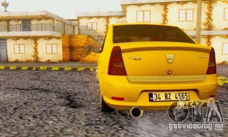 Dacia Logan Delta Garage для GTA San Andreas вид сзади слева