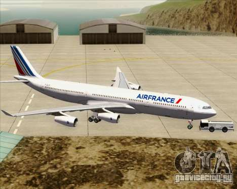 Airbus A340-313 Air France (New Livery) для GTA San Andreas вид снизу