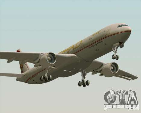 Airbus A330-300 Etihad Airways для GTA San Andreas вид снизу