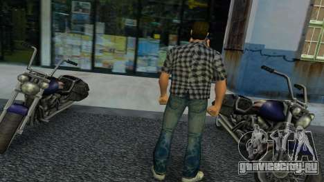 Kockas polo - szurke T-Shirt для GTA Vice City второй скриншот
