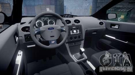 Ford Focus ST 2005 Rieger Edition для GTA 4 вид изнутри