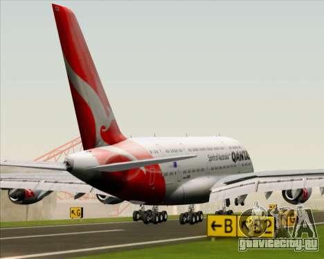 Airbus A380-841 Qantas для GTA San Andreas двигатель