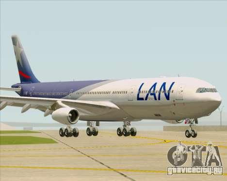 Airbus A340-313 LAN Airlines для GTA San Andreas вид слева
