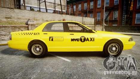 GTA V Vapid Taxi NYC для GTA 4 вид слева