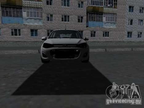 Lada Kalina 2 для GTA San Andreas вид изнутри