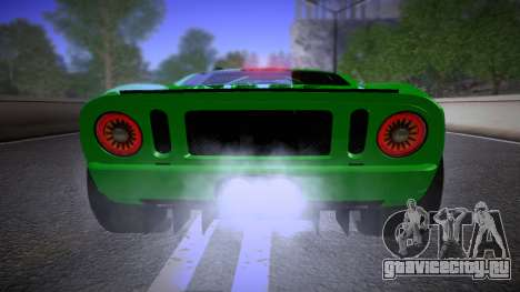 Ford GT 2005 Road version для GTA San Andreas вид изнутри