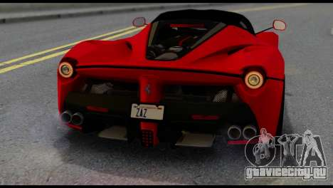 Ferrari LaFerrari 2014 (IVF) для GTA San Andreas вид сбоку