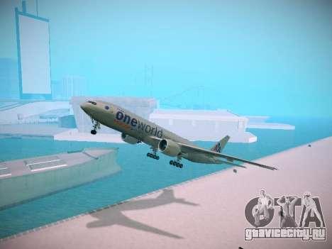 Boeing 777-223ER American Silver Bullet для GTA San Andreas
