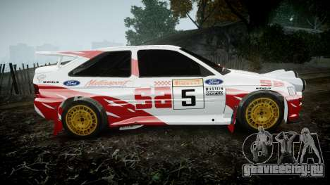 Ford Escort RS Cosworth 2.0 SA Competions для GTA 4 вид слева