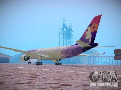Airbus A330-200 Hawaiian Airlines для GTA San Andreas вид сзади