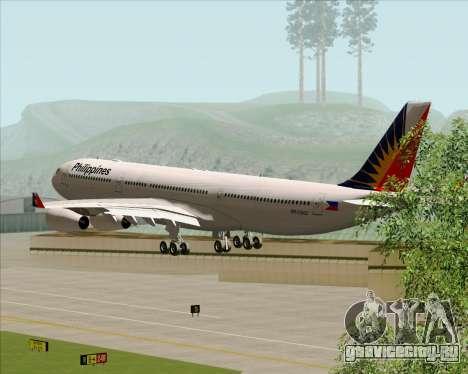 Airbus A340-313 Philippine Airlines для GTA San Andreas вид сбоку
