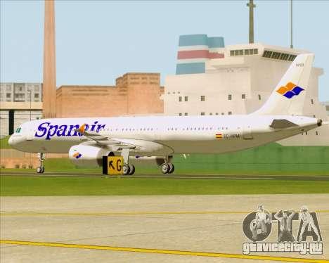 Airbus A321-231 Spanair для GTA San Andreas вид изнутри