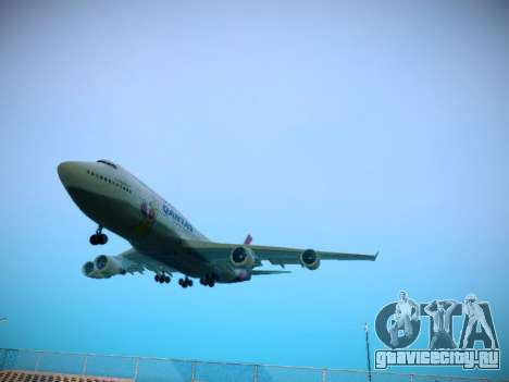 Boeing 747-438 Qantas Boxing Kangaroo для GTA San Andreas вид слева