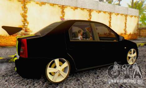 Dacia Logan Black Style для GTA San Andreas вид справа