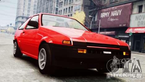 Toyota Sprinter Trueno AE86 SR для GTA 4 вид сзади слева