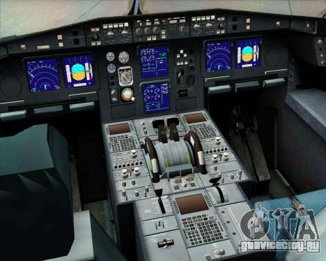 Airbus A340-313 Philippine Airlines для GTA San Andreas салон