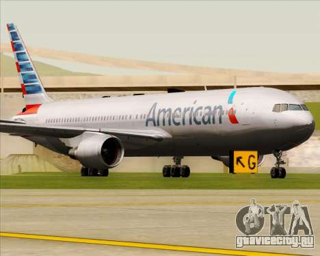 Boeing 767-323ER American Airlines для GTA San Andreas вид слева