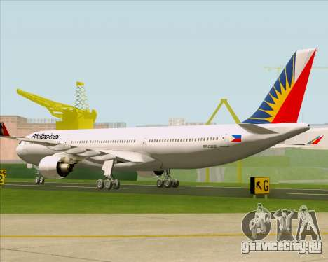 Airbus A330-300 Philippine Airlines для GTA San Andreas вид справа