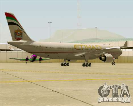 Airbus A330-300 Etihad Airways для GTA San Andreas вид сзади
