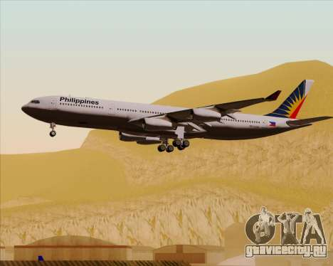 Airbus A340-313 Philippine Airlines для GTA San Andreas вид снизу