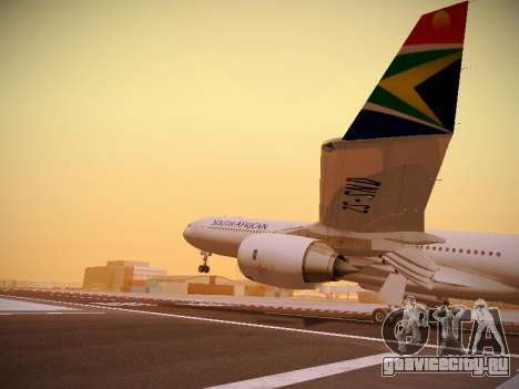 Airbus A340-600 South African Airways для GTA San Andreas вид снизу