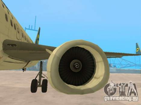 Boeing 737-84R Ukraine International Airlines для GTA San Andreas вид снизу