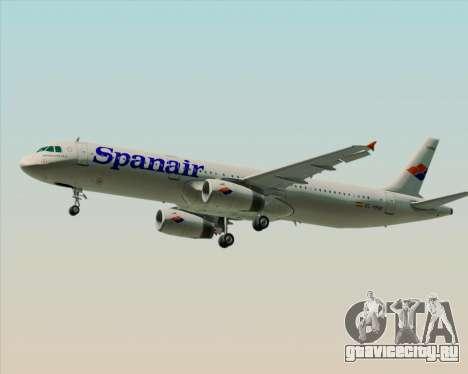 Airbus A321-231 Spanair для GTA San Andreas вид сзади слева