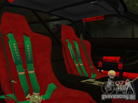 Honda NSX-R для GTA Vice City вид сзади