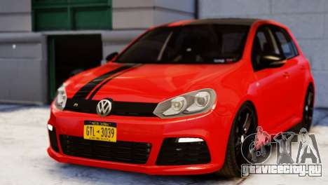 Volkswagen Golf R 2010 Racing Stripes Paintjob для GTA 4