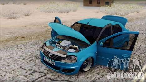 Dacia Logan BS GARAGE для GTA San Andreas вид сзади слева