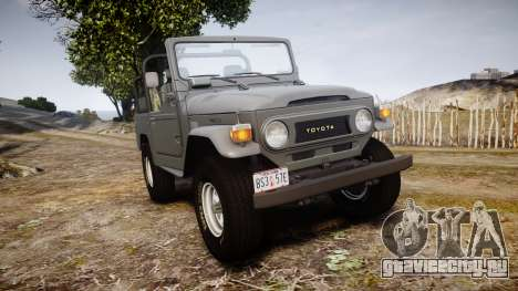 Toyota FJ40 Land Cruiser Soft Top 1978 для GTA 4