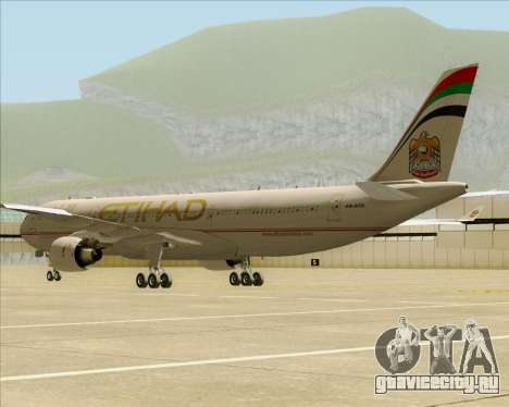 Airbus A330-300 Etihad Airways для GTA San Andreas вид справа