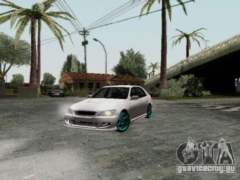 Toyota Altezza Addinol для GTA San Andreas вид сзади слева