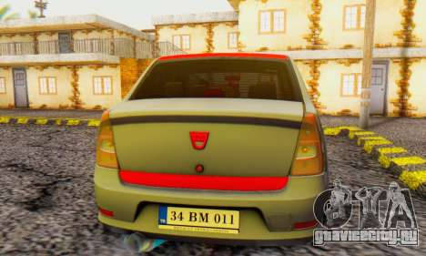 Dacia Logan Turkey Tuning для GTA San Andreas вид справа