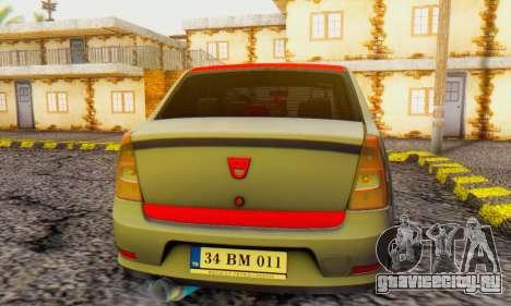Dacia Logan Turkey Tuning для GTA San Andreas вид справа